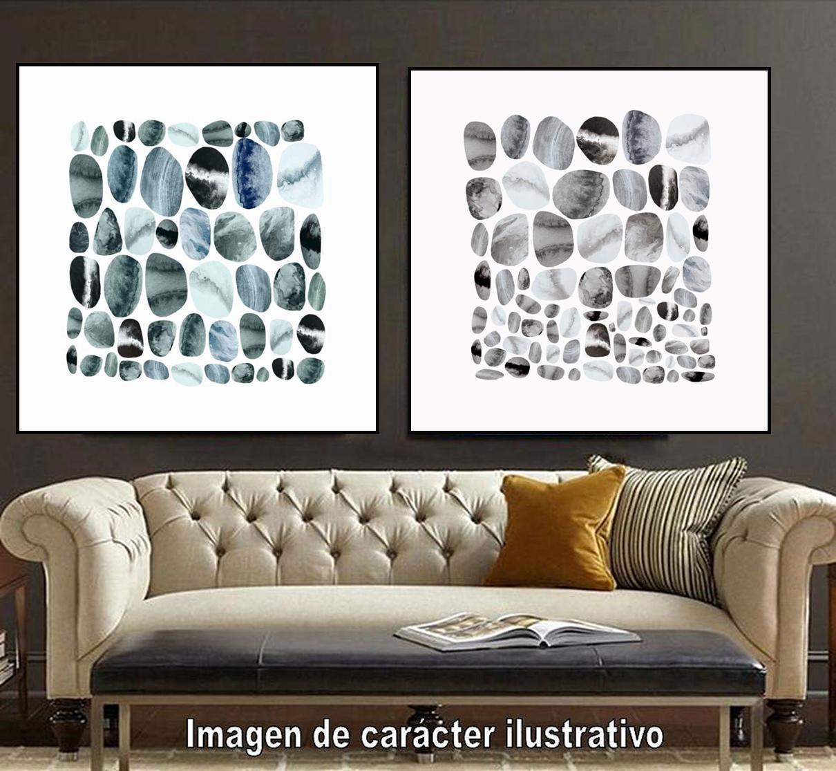 Cuadro canvas pebble treat I