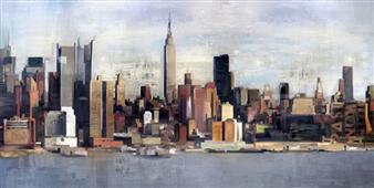 Cuadro canvas new york skyline