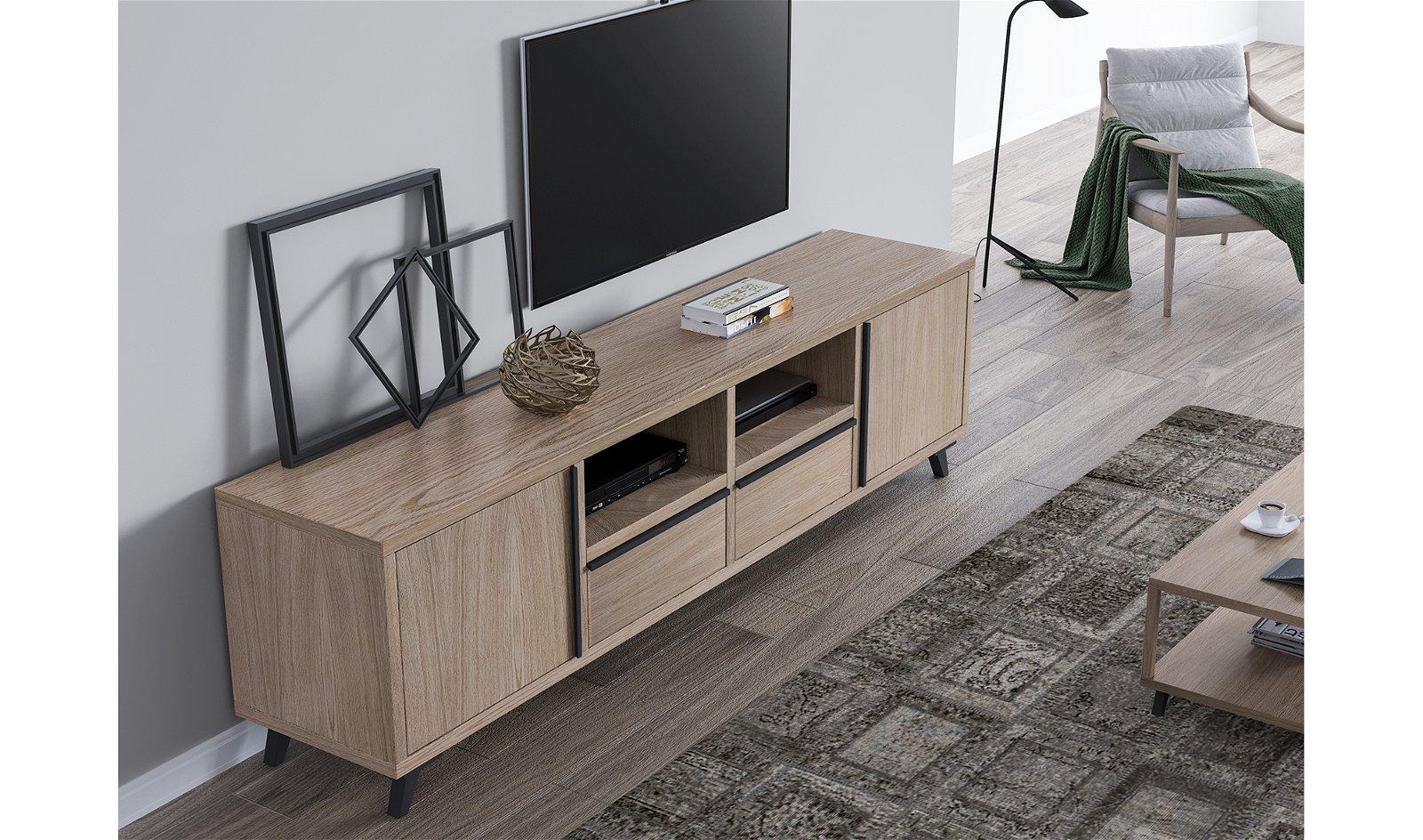Mueble tv 2 puertas nórdico Borgen