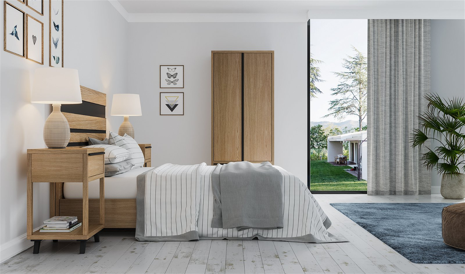 Dormitorio nórdico Borgen