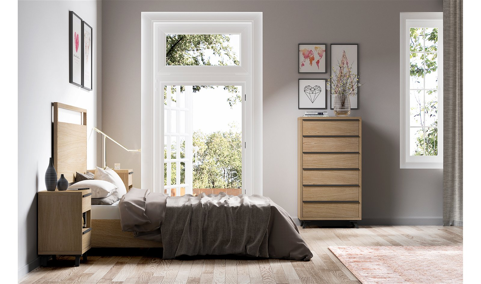 Dormitorio nórdico Borgen II
