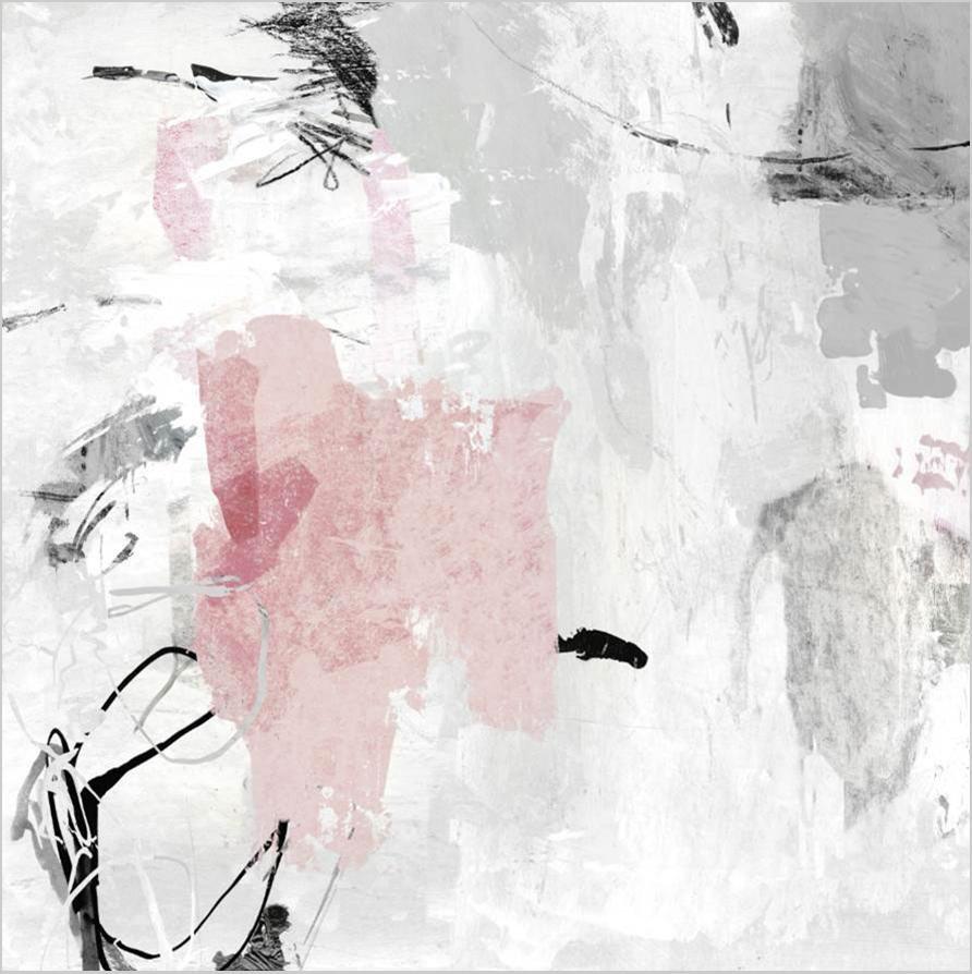 Cuadro canvas grey pink II