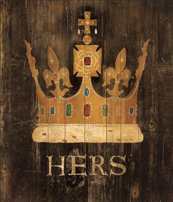 Cuadro canvas her majestys crown