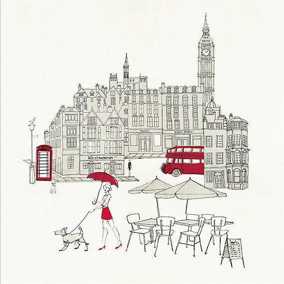 Cuadro canvas london red