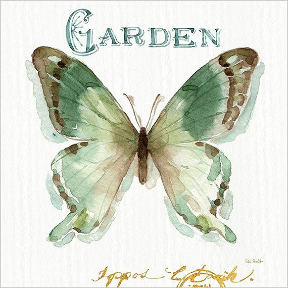 Cuadro canvas green butterfly