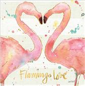 Cuadro canvas flamingo fever