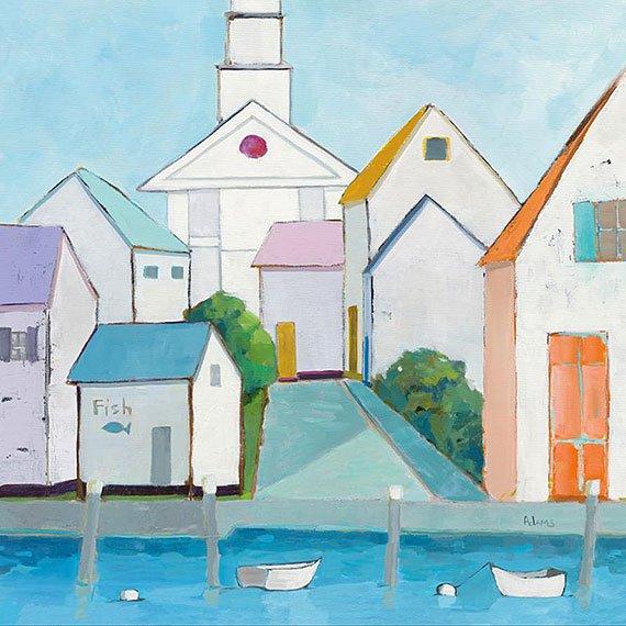 Cuadro canvas harbor town III