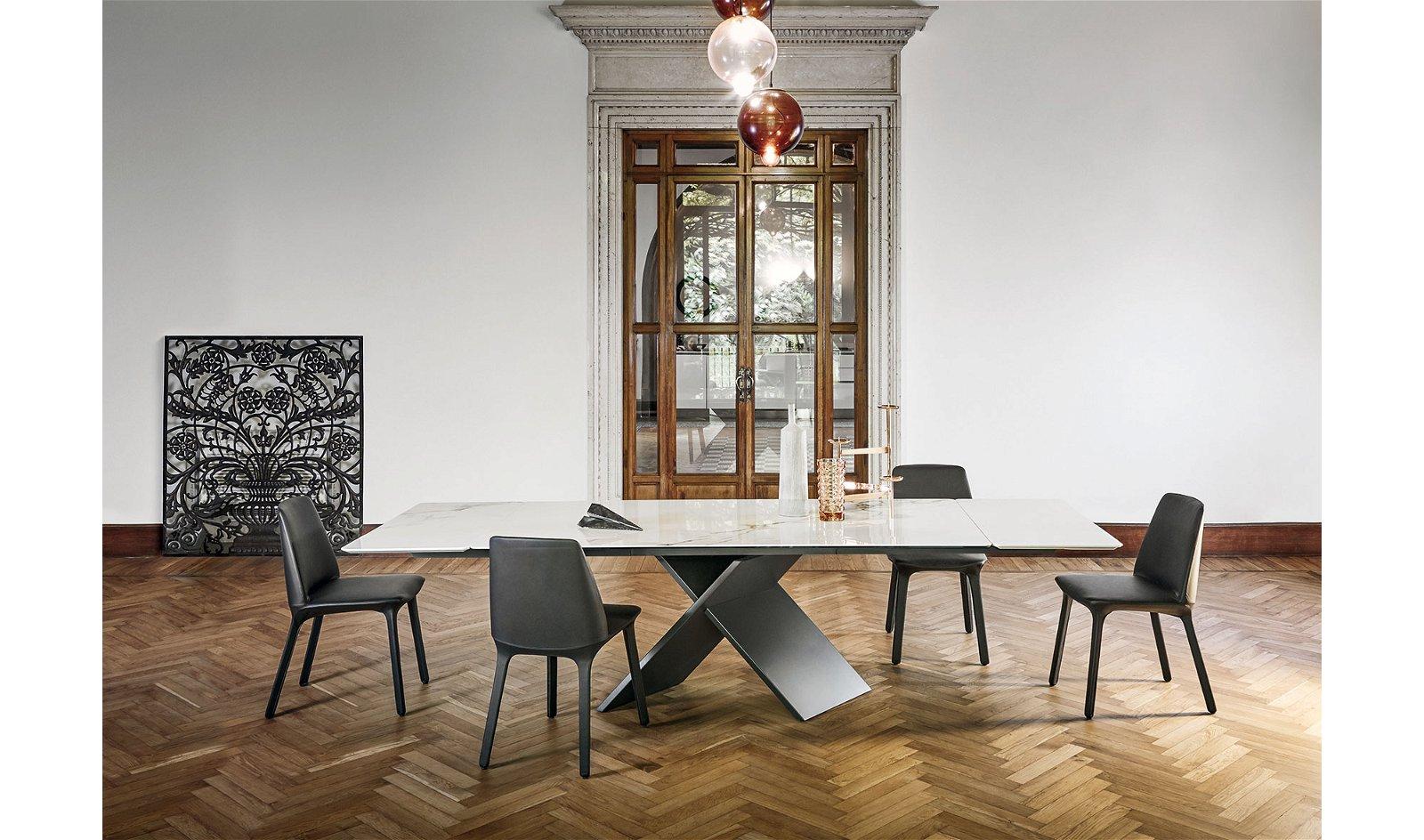 Mesa de comedor extensible calacatta Ax Bonaldo