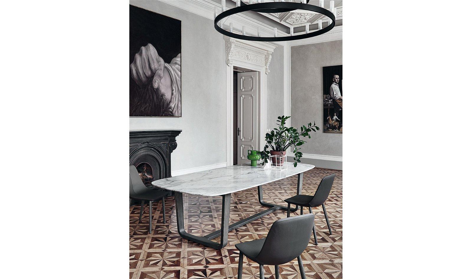 Mesa de comedor calacatta Medley Bonaldo