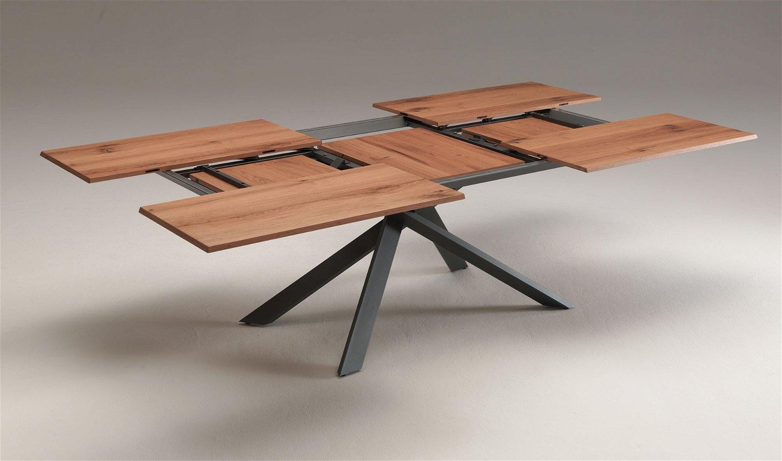 Mesa de comedor roble viejo 4x4 Ozzio