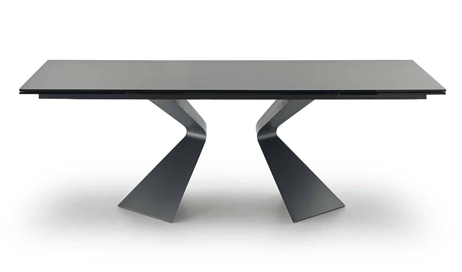 Mesa de comedor extensible cristal negro Prora Bonaldo