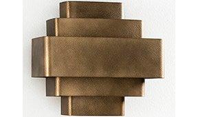 Aplique de pared bronce Termi