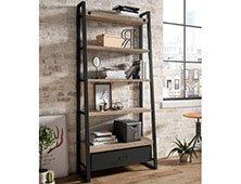 Librería 1 cajón industrial Hyde