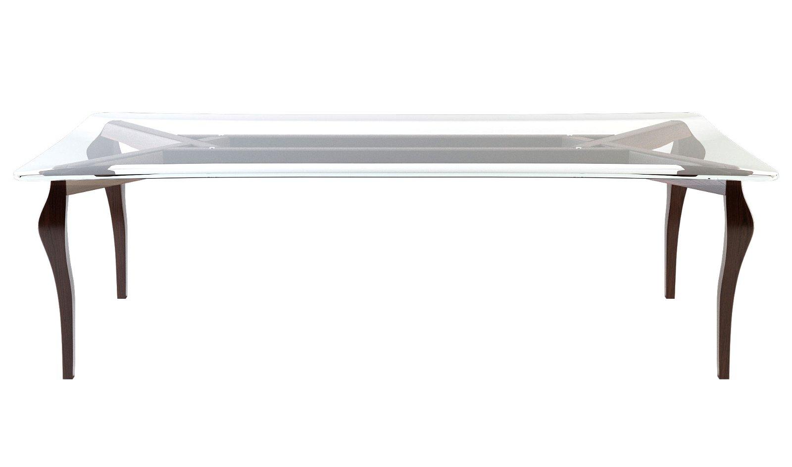 Mesa de comedor cristal moderna Stileto