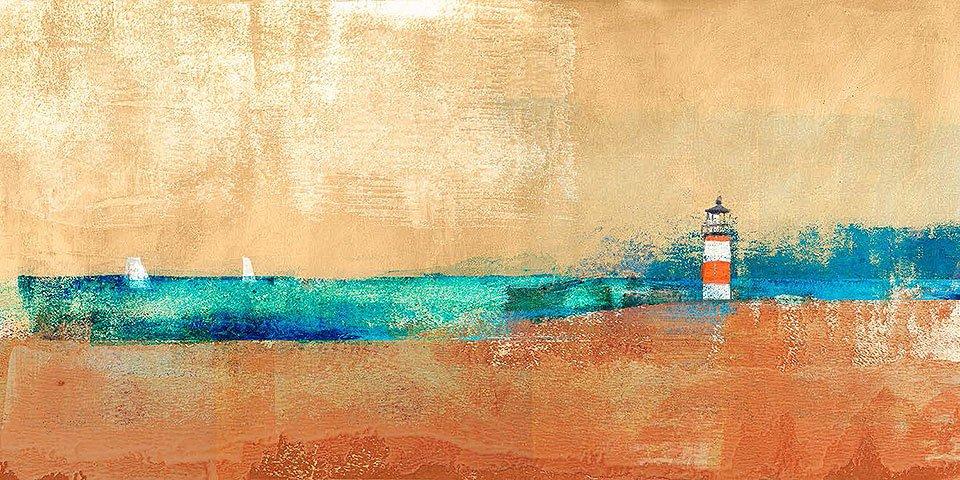 Cuadro canvas coast line and lighthouse