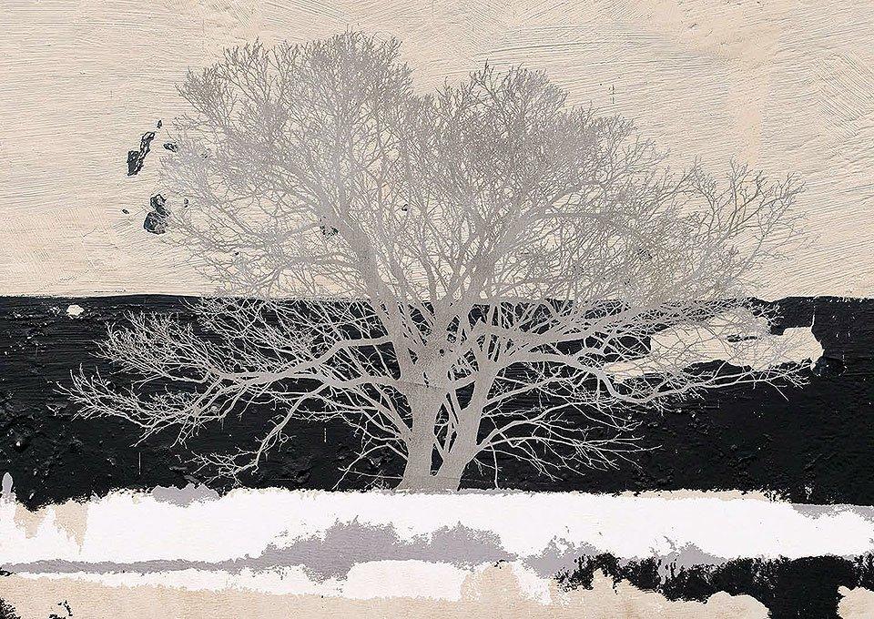 Cuadro canvas silver tree