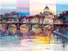 Cuadro canvas roma di sera