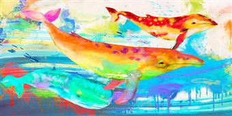 Cuadro canvas oceanic divinities