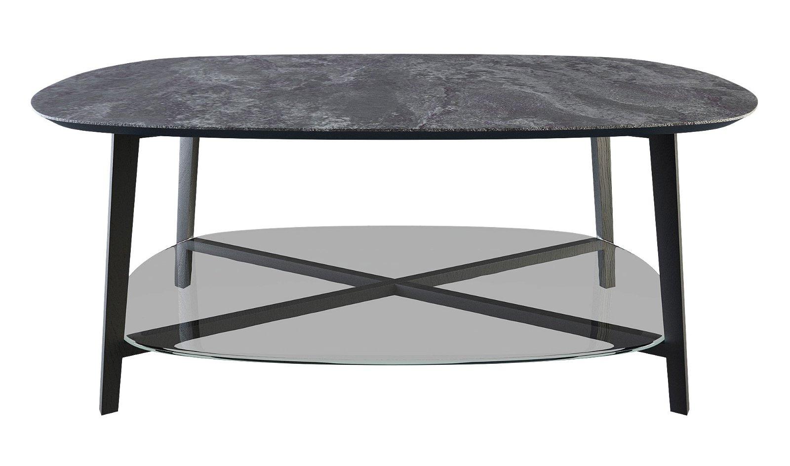 Mesa de centro moderna ovale Porcelanic