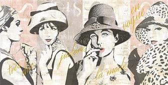 Cuadro canvas fashion week paris halftone