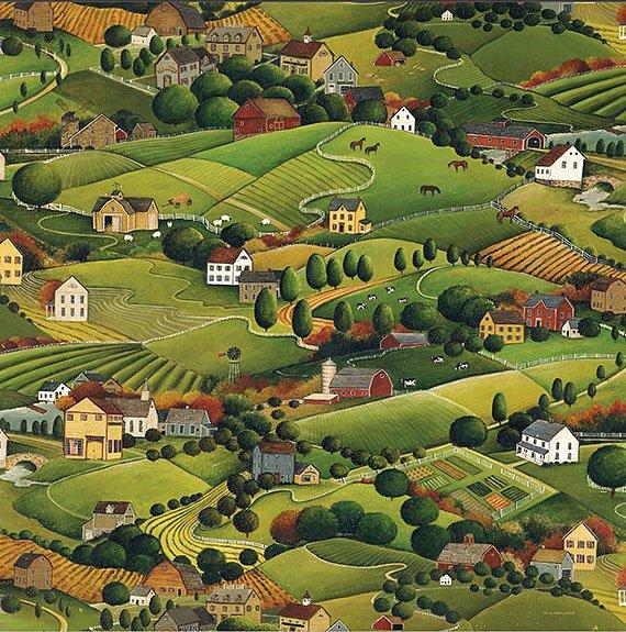 Cuadro canvas pleasant valley