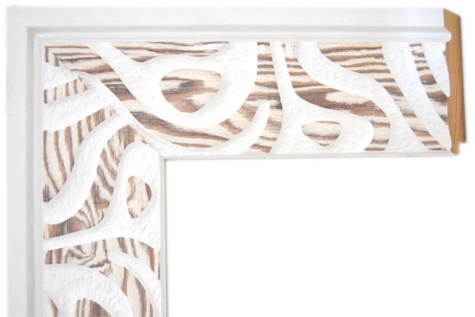Espejo olas madera y blanco