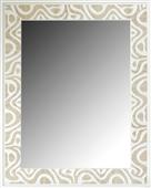 Espejo olas madera y blanco II