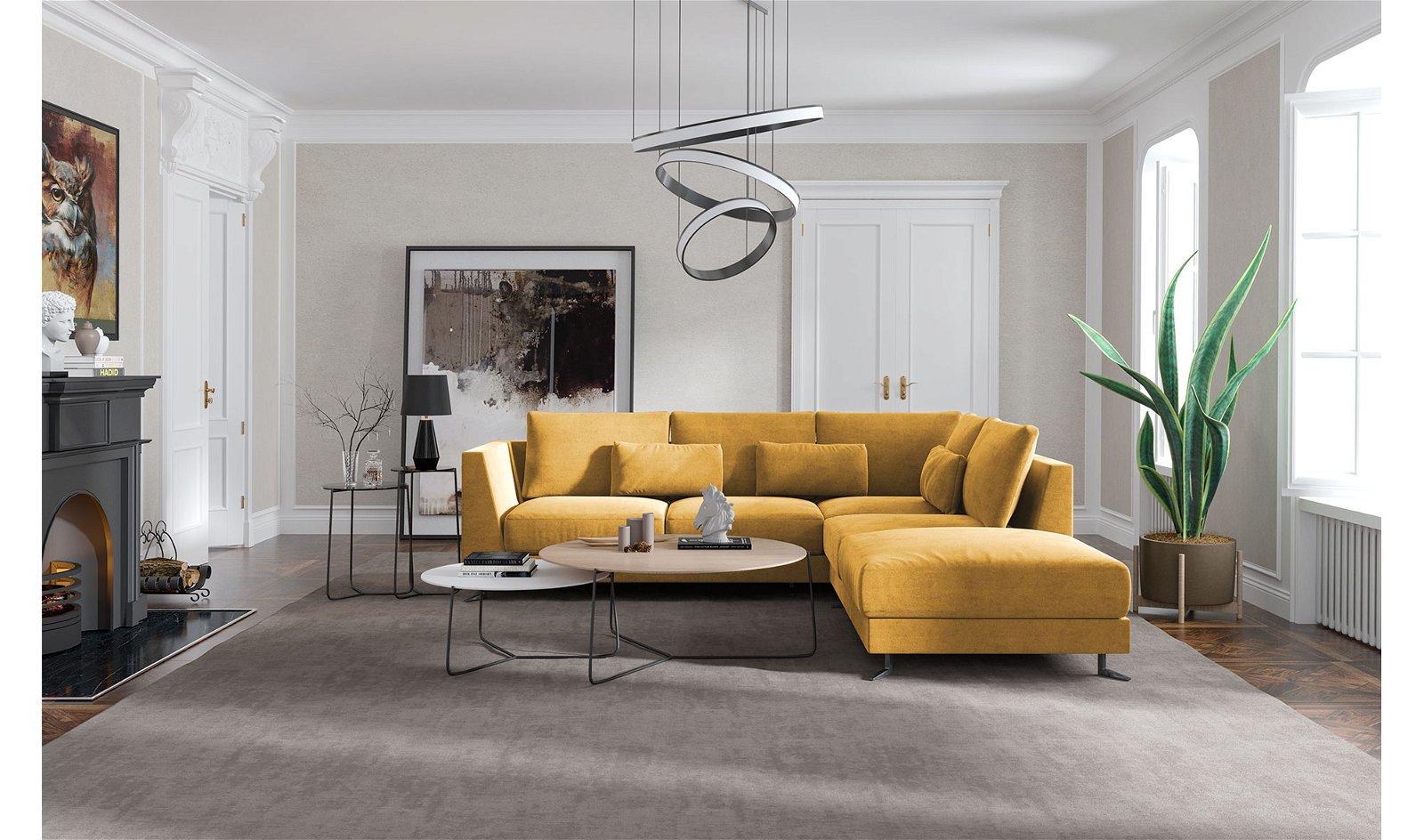 Sofá con chaise longue Burnelo