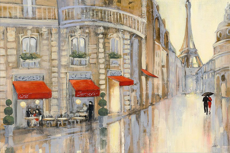 Cuadro canvas touring paris couple