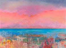 Cuadro canvas tramonto infinito