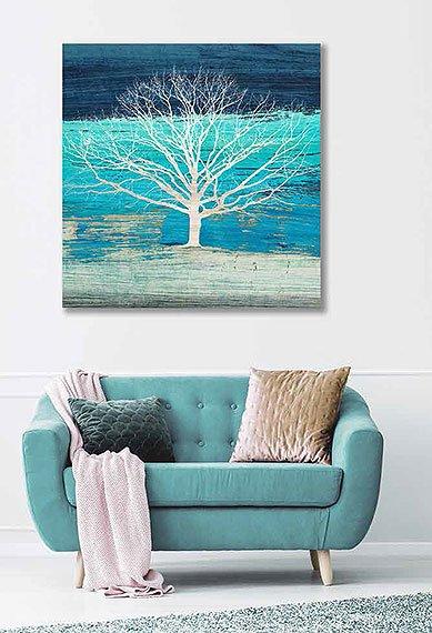 Cuadro canvas treescape azure