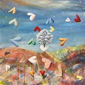Cuadro canvas cuori in liberta