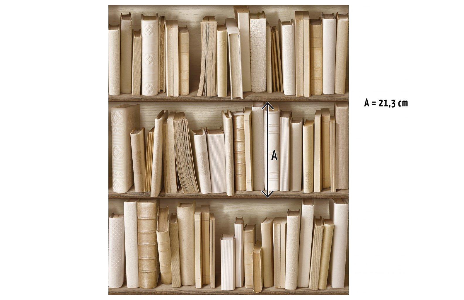 Papel pintado biblioteca marfil by Koziel