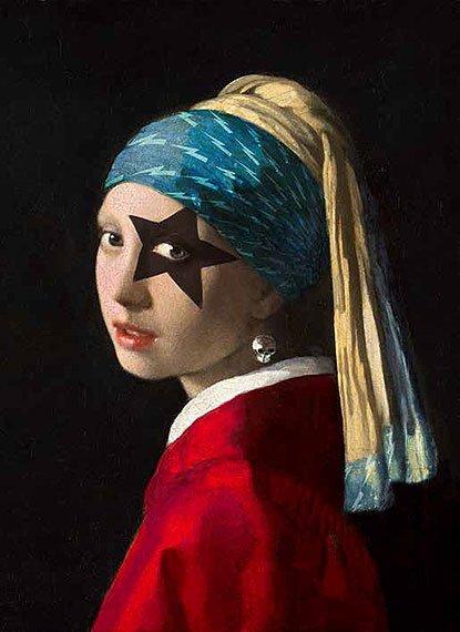 Cuadro canvas girl with skull hearring