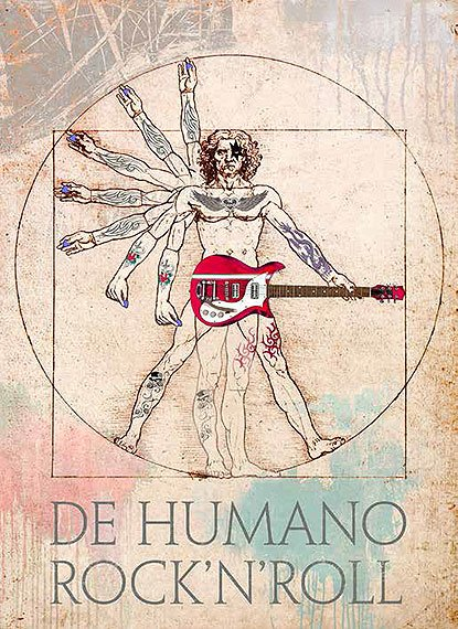 Cuadro canvas the humano rock and roll
