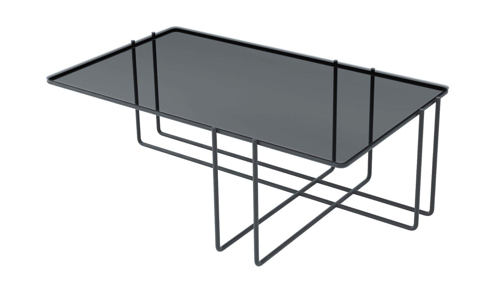Mesa de centro metal y cristal trasimeno Varila by Bodonni