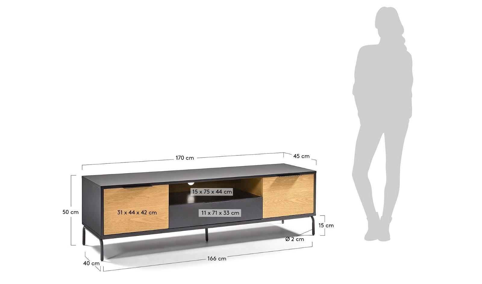 Mueble tv industrial Savoi