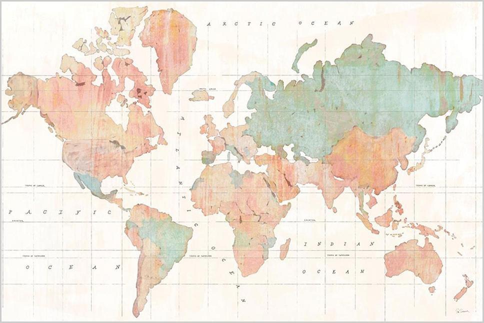 Cuadro canvas across the world