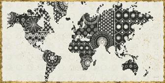 Cuadro canvas kami map