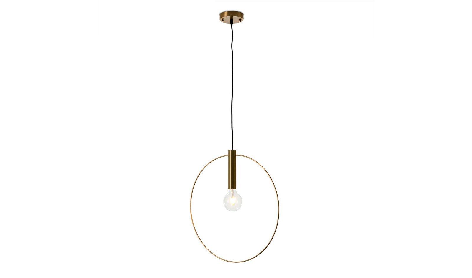 Lámpara de techo metal dorado Efí