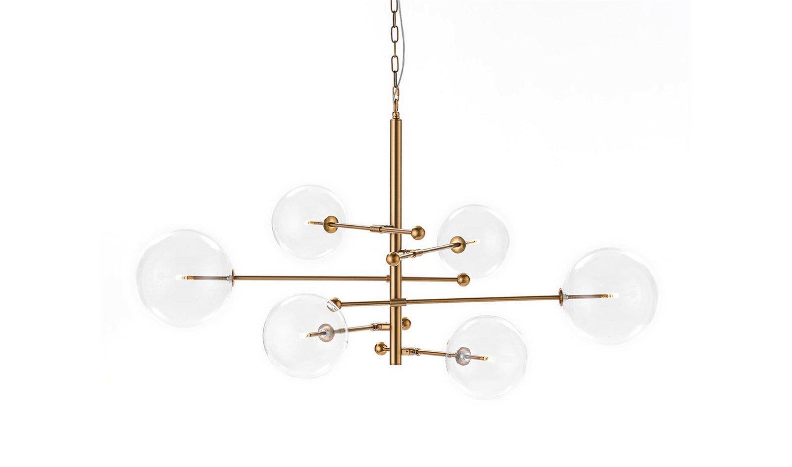 Lámpara de techo cristal metal con bombilla  Lux