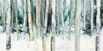 Cuadro canvas winter woods