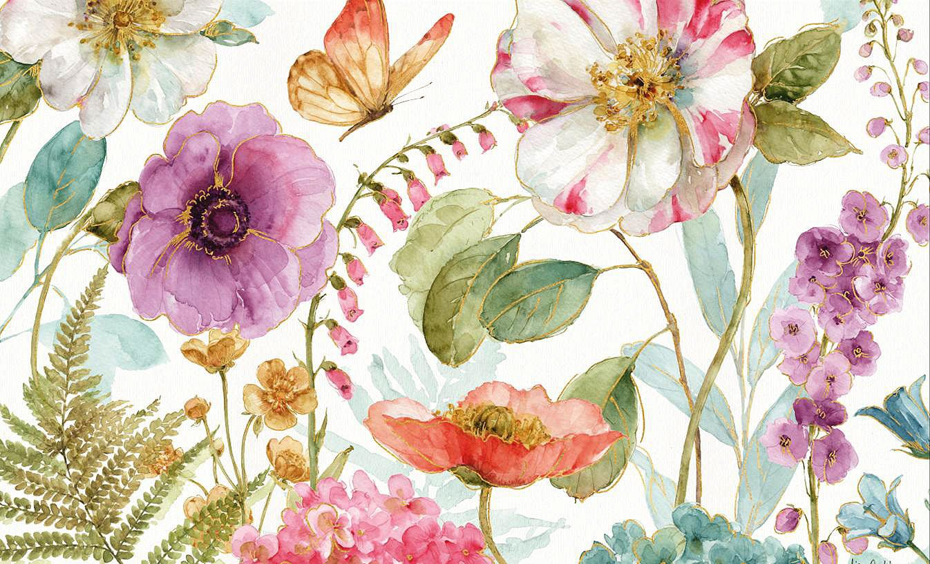 Cuadro canvas rainbow seed flowers
