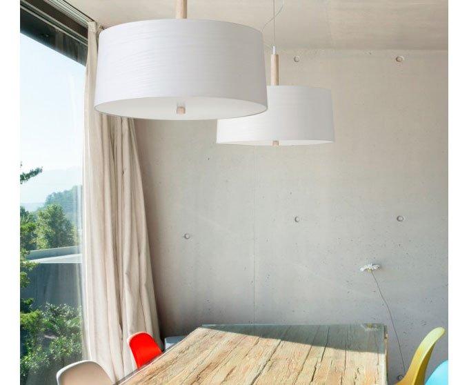 Lámpara de techo fresno tintado blanco Infinito
