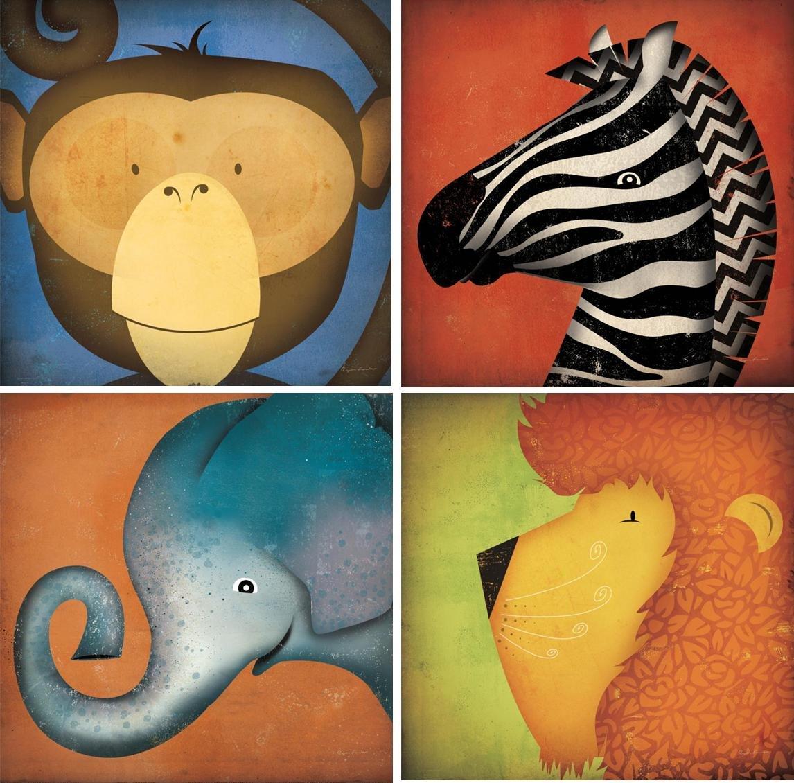 Coleccion mini canvas animalitos