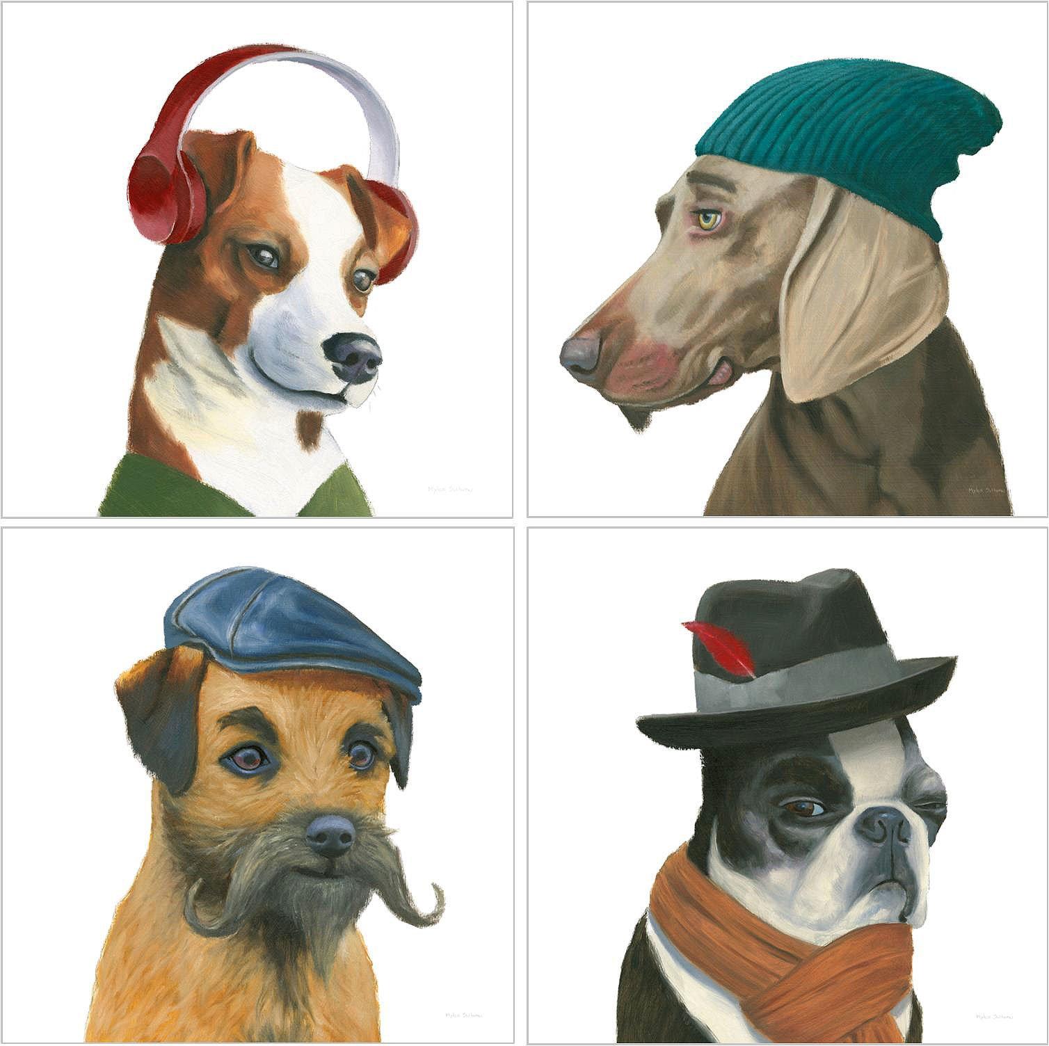 Coleccion mini canvas perritos