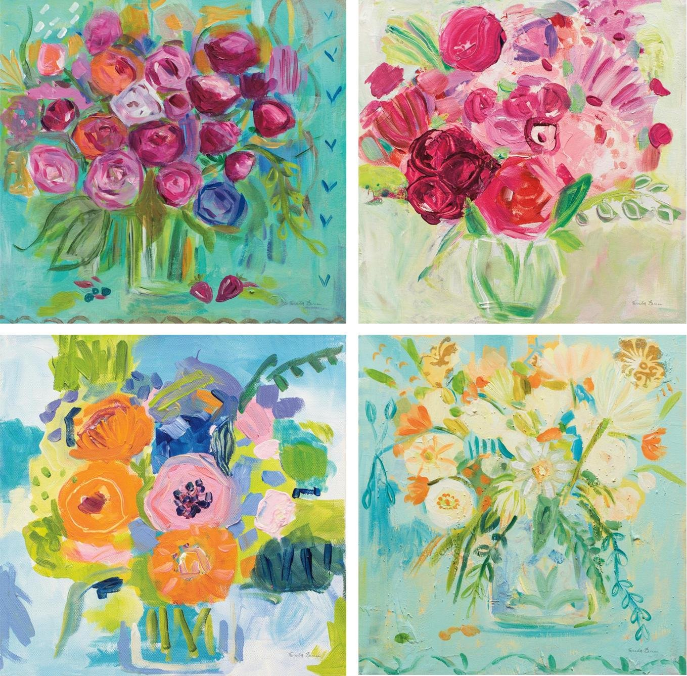 Coleccion mini canvas flores