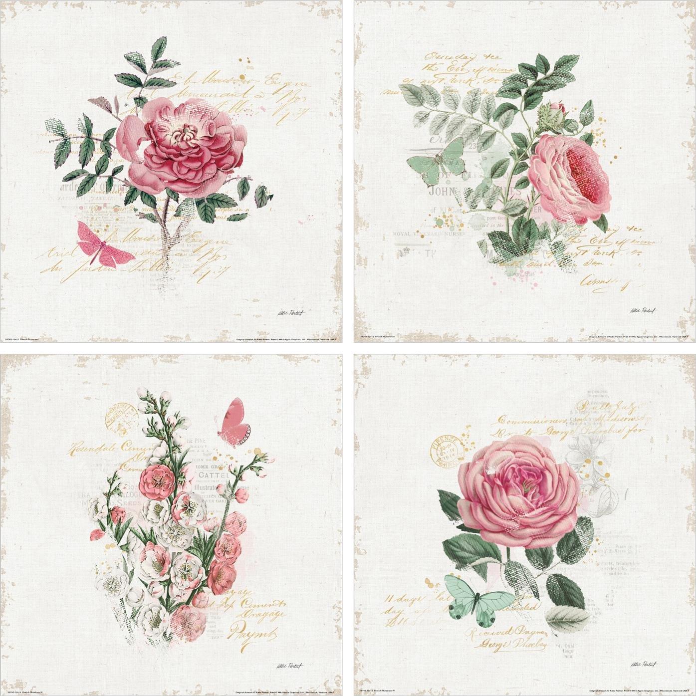 Coleccion mini canvas flores y mariposas