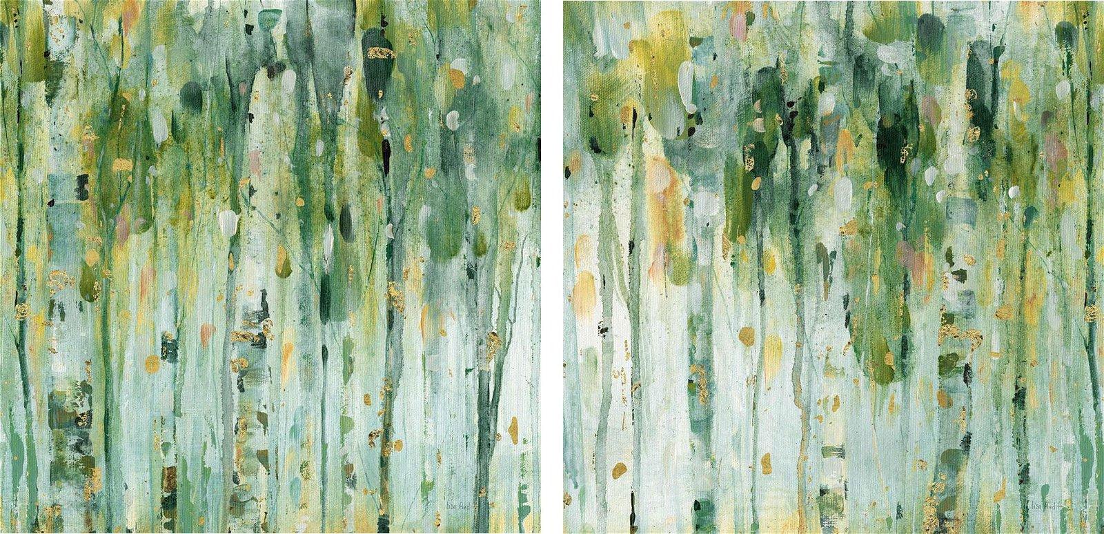 Pareja de cuadros paisaje moderno the forest