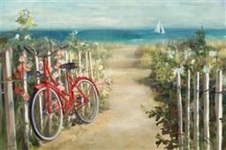 Cuadro canvas paseo por la playa